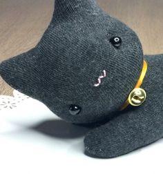 Zokni cica - aranyos fekete macska zokniból / Mindy -  kreatív ötletek és dekorációk minden napra