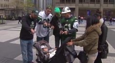 Since the NFL draft's not in New York City this year, Jets fans will have to travel to do their traditional booing of the first-round pick. (Is it tradition, or has every first-round pick just been that terrible?) Local news station WGN-TV pretended to be Jets fans, and heckled everyone in Chicago, including but not limited to bagels, babies, and puppies.