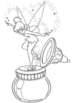 Fairy Coloring Page 23