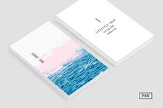 Ocean + Pink Business Card Template https://creativemarket.com/MeeraG/702640-Ocean-Pink-Business-Card-Template #design #art #graphicdesign