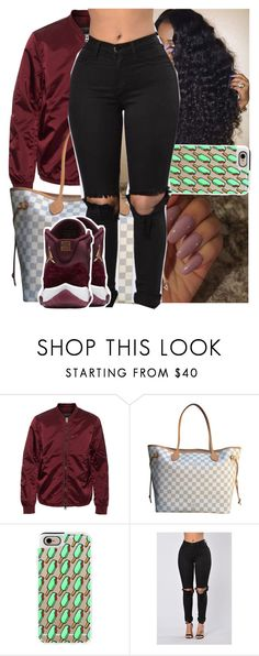 """""""🍷."""" by theyknowtyy ❤ liked on Polyvore featuring Acne Studios, Louis Vuitton and Casetify"""