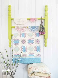 Add function and charm to your home with this handmade quilt rack by Prodigal Pieces | prodigalpieces.com. Made from repurposed bed posts and table legs with a farmhouse, cottage flair.