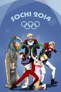 Tags: Anime, Snowflakes, Skiing, Figure Skating, Ice Skating, Roller Skates, Axis Powers: Hetalia