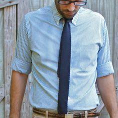 Checkered + Knit tie