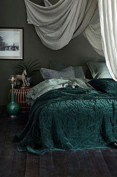 The Unusual Secret of Jewel Tone Bedroom Decor Color Inspiration ., The Unusual Secret of Jewel Tone Bedroom Decor Color Inspiration . Green Rooms, Bedroom Green, Cozy Bedroom, Bedroom Inspo, Dream Bedroom, Bedroom Decor, Bedroom Bed, Master Bedroom, Jewel Tone Bedroom