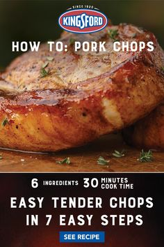Pork Ham, Grilled Pork Chops, Pork Tenderloin Recipes, Pork Chop Recipes, Grilled Meat, Grilling Recipes, Meat Recipes, Chicken Recipes, Dinner Recipes