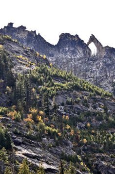 You'll see the Arch of Romney on a hike in Blodgett Canyon, Hamilton, Montana.