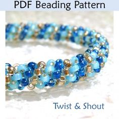 "Tubular Peyote ""Twist & Shout"" PDF Beading Pattern"