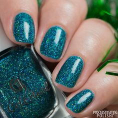 Celestial Cosmetics - Don't Get Your Tinsel in a Tangle Treat Yourself, Swatch, Nail Polish, Treats, Cosmetics, Celestial, Nails, December, Beauty