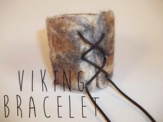 My own design of a viking bracelet made of wool and lether.