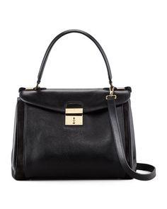 Marc Jacobs Metropolitan Flap-Top Satchel Bag, Black - Bergdorf Goodman