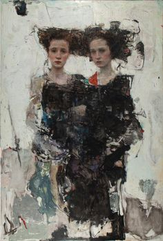 From Vail International Gallery, Ron Hicks, Amaranthine Continuance Oil on birch panel, 78 × 53 in Painting People, Figure Painting, Painting & Drawing, Portraits, Portrait Art, Russian Painting, Figurative Art, Female Art, Les Oeuvres