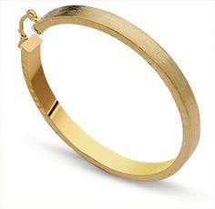 G26249 28,00€  Aro grande acabado brillo y mate satinado en gold filled, diametro 50 mm, peso 6 gr c/u, ancho del tubo 5 mm