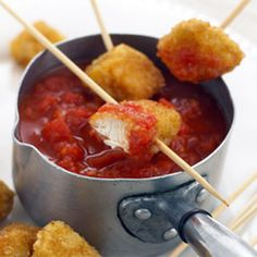 Crispy Chicken Nuggets My children will enjoy these.