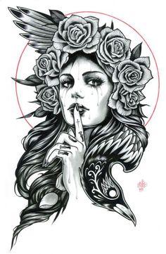 Fantástica colección de 50 Bocetos o Diseños de Catrinas y Calaveras Mexicanas para hacer los mejores tatuajes. Todos seleccionados minuciosamente.