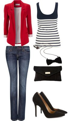 """Statement blazer."" by mverros on Polyvore"