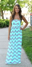 Mint and Grey Chevron Maxi/ COMING AGAIN LATE MARCH