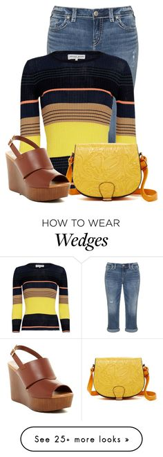 """Untitled #18507"" by nanette-253 on Polyvore featuring Silver Jeans Co., Apiece Apart, 5th Avenue Designs and Callisto"