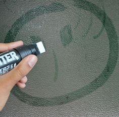 Grime Writer- Leave a #message on a friend's dirty #car using a pen filled with cleaning solution.
