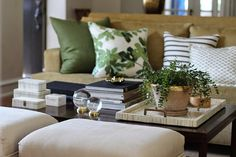 Beige Sofa - Design photos, ideas and inspiration. Amazing gallery of interior design and decorating ideas of Beige Sofa in living rooms, decks/patios by elite interior designers. Curtains Living Room, Living Room Color Schemes, Brown Living Room, Transitional Living Rooms, Living Room Green, Beige Couch Decor, Apartment Living Room, Living Room Sofa, Beige Couch Pillows