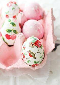 E a s t e r eggs mit decoupage (?)