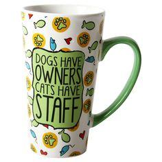 Cats Have Staff Latte Mug
