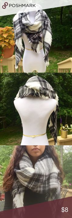 Plaid scarf/shawl This can really be used as anything you make it out to be!  I have worn it as a scarf or as a shawl, but you can also use it as a throw blanket.  Material is soft and although it has been worn, it remains in perfect condition! Forever 21 Accessories Scarves & Wraps