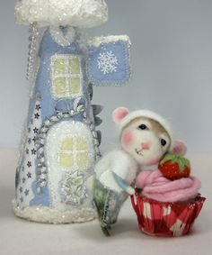 Dressed Mouse/Bunny Class  Needle Felting Class to by barby303, $45.00