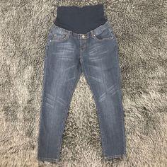 02e3e0199954e Lilac Brand Size L Skinny Maternity Jeans Band Panel Dark Wash 018 #fashion  #clothing