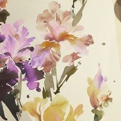 Helen Dealtry watercolor Iris