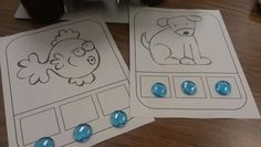 PSF Mats!  Great for guided reading!  Use gems, trucks, blocks, chips, etc!  Push up sounds.../d/ /o/ /g/, dog!