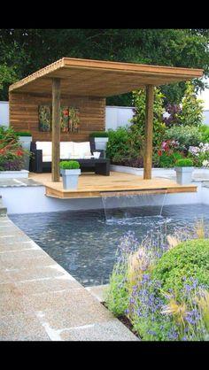 Cute rechteck poolgestaltung im garten hohe pflanzenbeete Pool und Garten Pinterest Saunas
