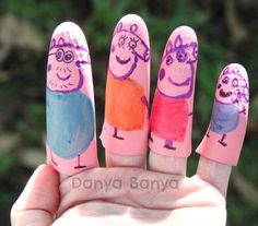 Easy no-sew Peppa Pig finger puppets! Perfect for any little Peppa Pig fan.