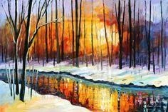 Winter Sun by Leonid Afremov by Leonidafremov (print image)