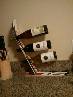 Wine Rack Out Of Old Ski