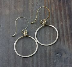 Forward Facing Hoops Hoop Earrings Small NuGold Red by true2u, $16.00