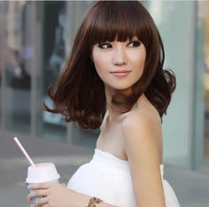 Amazon.com : Cute Stylish Short Lady Wig Party Dark Brown Full Wave Wigs : Hair Replacement Wigs : Beauty