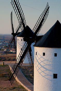 Windmills, Castille la Mancha, Spain (Cervantes wrote Don Quixote in Guanajuato, Mexico)
