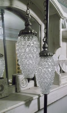 Hollywood Regency Double Swag Glass Lamp Shabby. These Are Almost Exactly  The Same As My