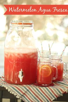 Watermelon Agua Fresca Recipe - so light and refreshing! #drinks #recipe #SummerGetaway
