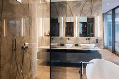 Projekte // Haus Sch Bathroom Lighting, Mirror, Stone, Furniture, Home Decor, Projects, Haus, Bathroom Light Fittings, Bathroom Vanity Lighting