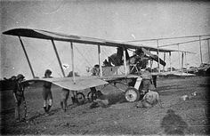 MINISTRY INFORMATION FIRST WORLD WAR OFFICIAL COLLECTION (Q 15507) Voisin two-seater biplane used by 1st Squadron RNAS in German East Africa. Mtua Lindi Line, November 1917.