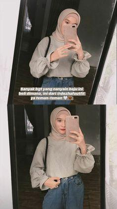 Muslim Fashion, Modern Hijab Fashion, Hijab Fashion Inspiration, Casual Hijab Outfit, Ootd Hijab, Best Online Clothing Stores, Online Shopping Clothes, Model Baju Hijab, Online Shop Baju