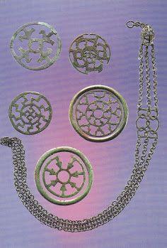 Germanische Zierscheiben (alamannisch) Bronze
