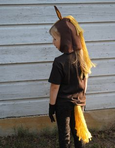 Handmade Horse Costume Brown Yellow Black Gray by artstylefashion, $45.00