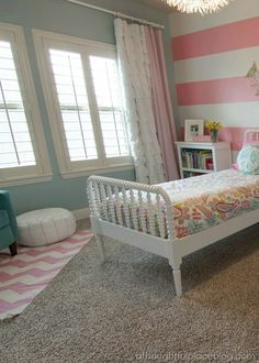 colorful bedroom for two girls: client space from a thoughtful place