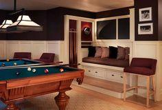 44 Genius Mirror Tv Design Ideas For Living Room Game Room Bar, Game Room Decor, Pool Table Room, Pool Tables, Teen Game Rooms, Billards Room, Garage Game Rooms, Basement Remodeling, Basement Ideas