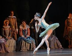 Olivia Cowley, Fairy of the Crystal Fountain, in The Sleeping Beauty.© Dave Morgan, courtesy the Royal Opera House. (Click image for larger version)