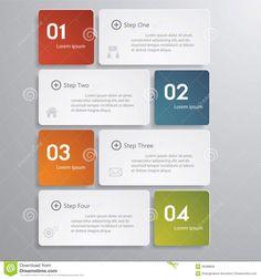 Illustration about Design clean number banners template/timeline. for your design. Illustration of label, dynamic, abstract - 36288606 Flow Chart Design, Diagram Design, Graph Design, Design Web, Slide Design, Powerpoint Design Templates, Instructional Design, Banner Template, Infographic Templates