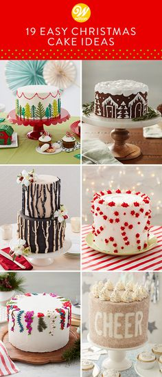 19 Easy Christmas Cake Ideas - Best Holiday Cake Recipes While many believe that cookies are the king of Christmas desserts, Christmas cakes are giving cook Christmas Tree Cake, Christmas Cake Decorations, Holiday Cakes, Christmas Treats, Christmas Baking, Christmas Parties, Christmas Christmas, Best Christmas Desserts, Xmas Desserts